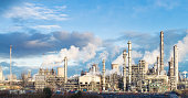 A panoramic image of Grangemouth petrochemical plant in central Scotland.