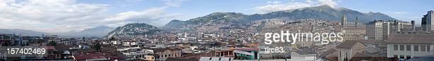 Vista panorámica a la zona histórica de Quito