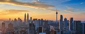 Panoramic view of Kuala Lumpur City Centre