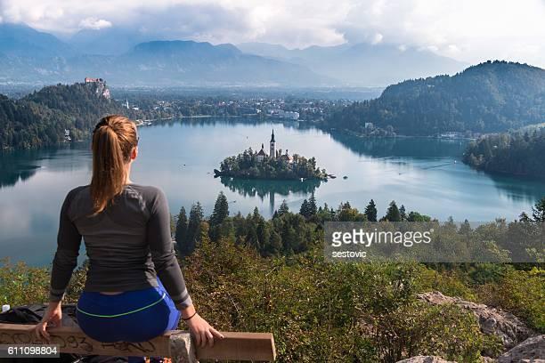 ブレッド湖のパノラマに広がる眺め