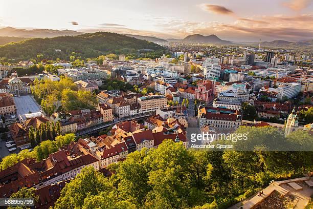 Panoramic view of Ljubljana, Slovenia