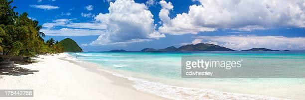 Panoramablick von Long Bay, Tortola, Britische Jungferninseln