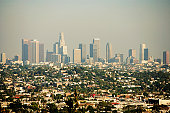 Panoramic view of Los Angeles, Los Angeles, California, USA