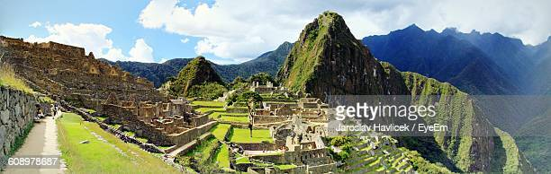 Panoramic View Of Machu Picchu Against Sky