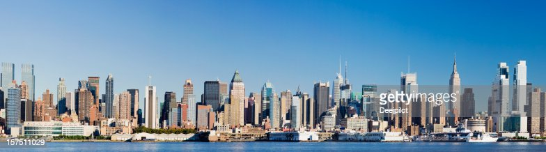 Panoramic View of Manhattan New York City Skyline USA