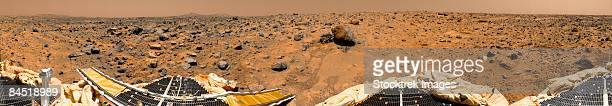 Panoramic view of Mars.