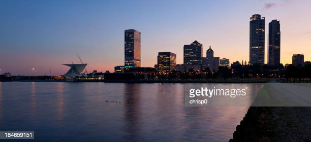 Panoramic View of Milwaukee at Dusk
