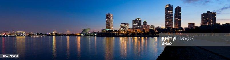 Panoramic View of Milwaukee at Twilight