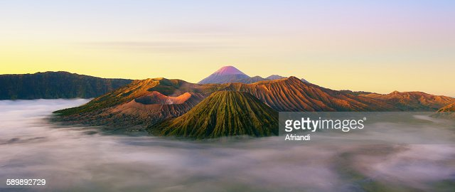 Panoramic view of Mount Bromo, Indonesia