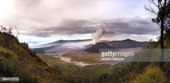 Panoramic view of Mt. Bromo , East Java, Indonesia