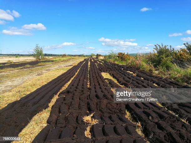 Panoramic View Of Mud On Farm Against Sky