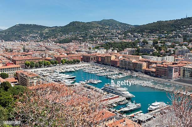Vue panoramique du Port de Nice, sur la Côte d'Azur
