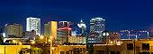 Panoramic View of Oklahoma City Skyline at Dusk (XXXL)