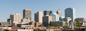 Panoramic view of Oklahoma City Skyline on a cloudless day