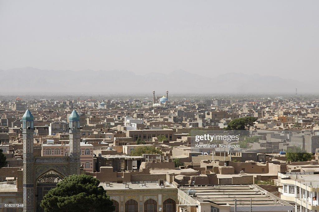 Panoramic view of Old Herat, Afghanistan : Foto de stock