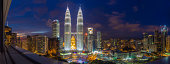 Panoramic View of Petronas Twin Towers