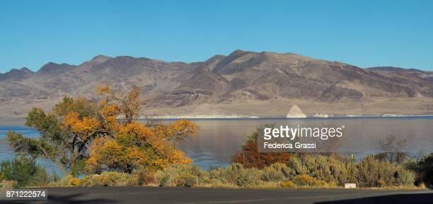 Panoramic View of Pyramid Lake, Nevada