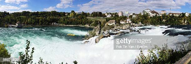 Panoramic View Of Rhine Falls Against Sky
