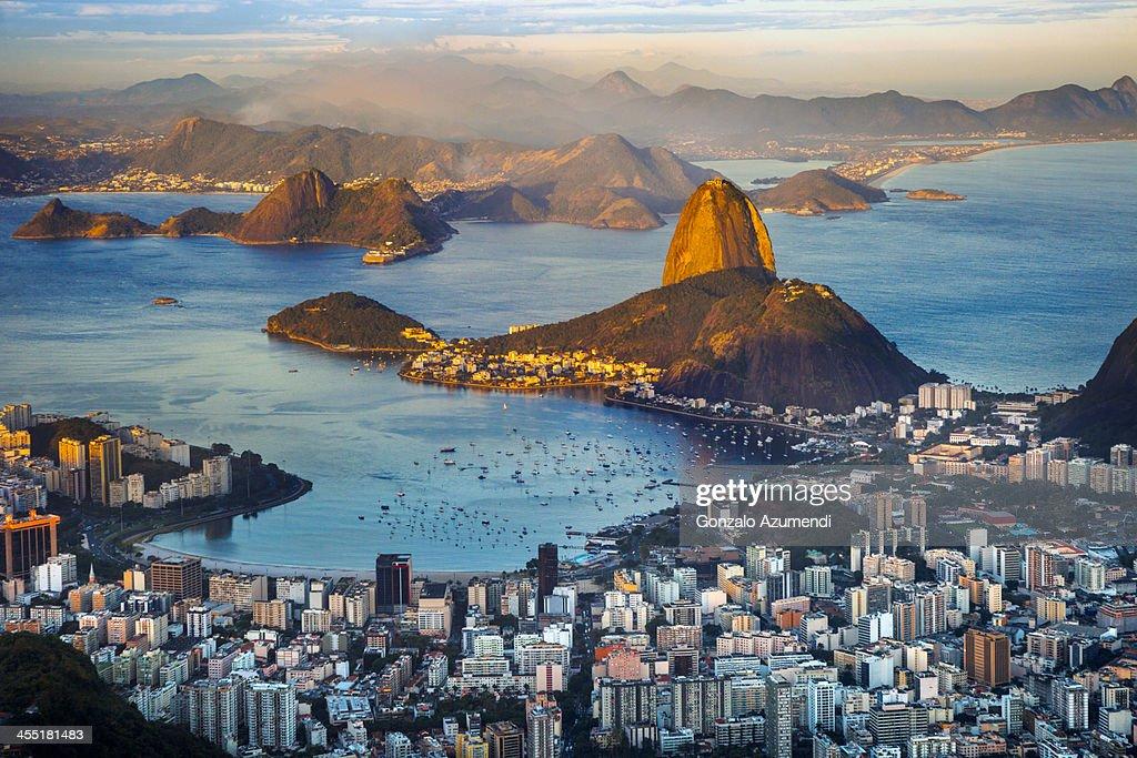Panoramic view of Rio de Janeiro.