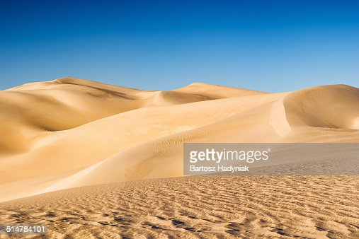 Panoramic view of Sahara Desert in Africa