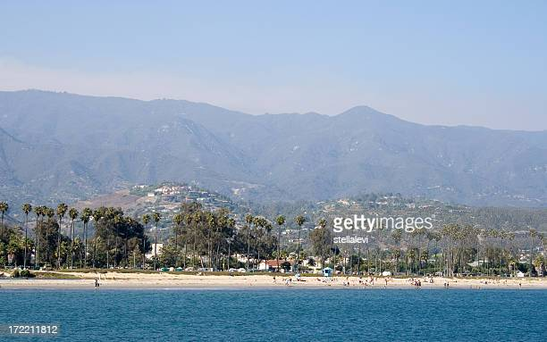 Panoramic view of Santa Barbara beach and city