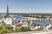 Panoramic view of Saumur - Loire Valley (France)