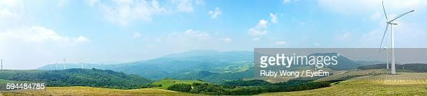 Panoramic View Of Scenic Landscape Against Sky
