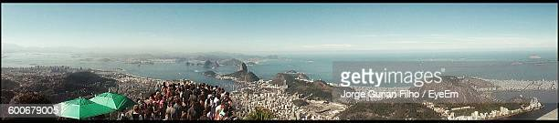 Panoramic View Of Sea Against Sky From Christ The Redeemer