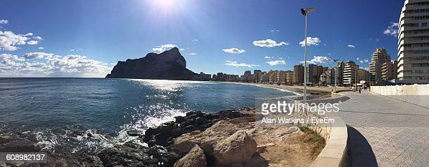 Panoramic View Of Sea And Beach Against Sky
