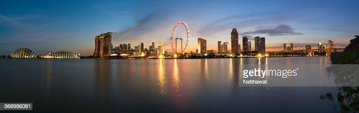 Panoramic View of Singapore Skyscraper