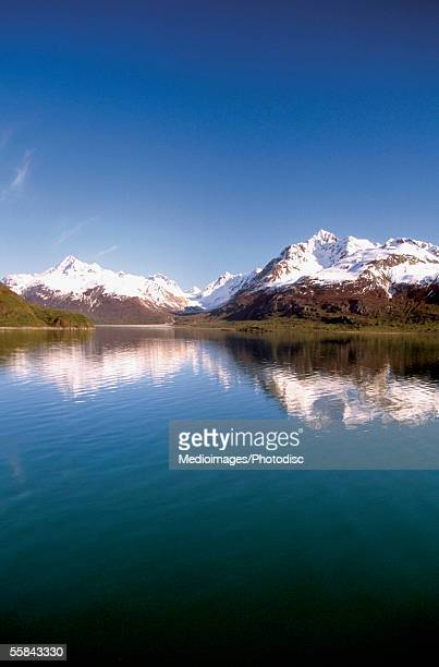 Panoramic view of snowcapped mountains, Glacier Bay National Park And Preserve, Alaska, USA