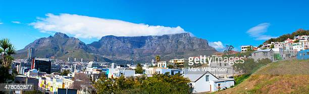 Panoramic view of Table Mountain range, Cape Town.