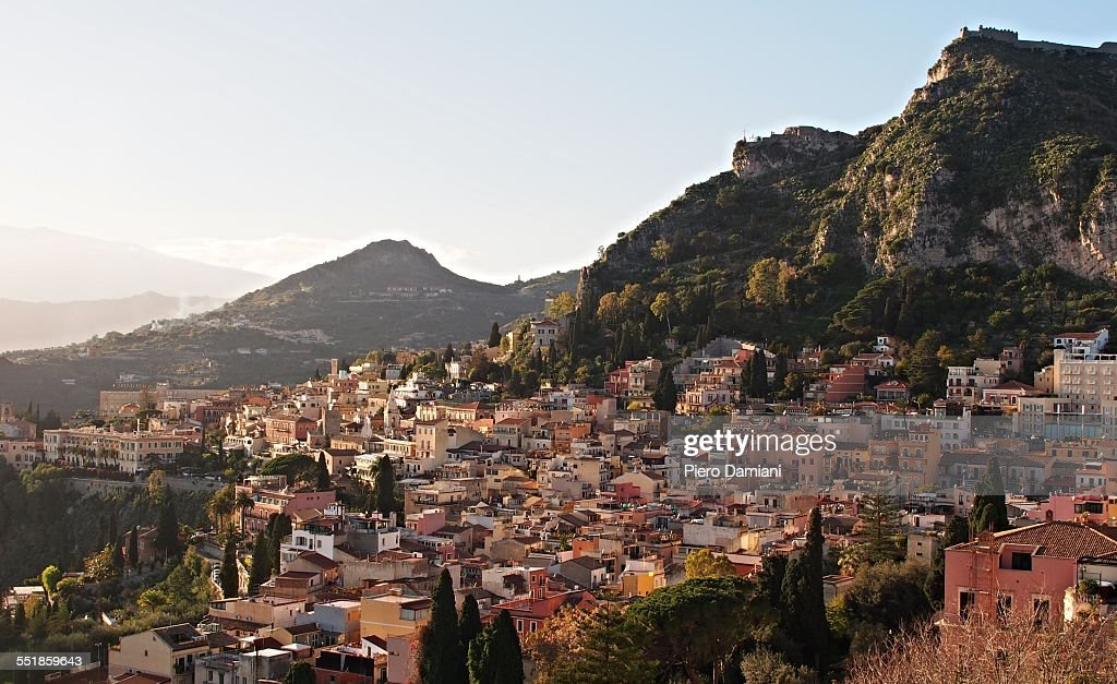 Panoramic view of Taormina