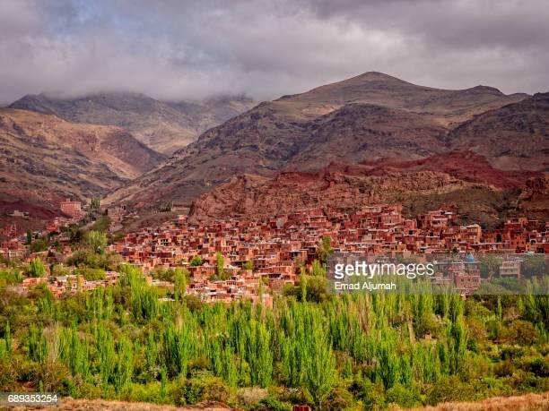 Panoramic view of the Abyaneh Village, Iran - 28 April 2017