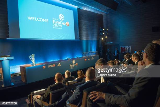 Panoramic view of the Auditorium during the 20172018 7Days EuroCup Draw at Imagina Centre Audiovisual on July 6 2017 in Barcelona Spain