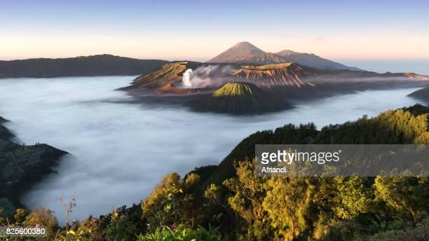 Panoramic view of The Bromo Tengger Semeru National Park, East Java, Indonesia