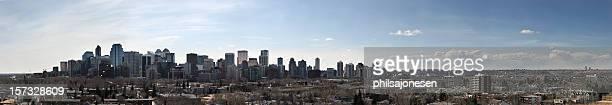 Panoramic view of the Calgary city skyline