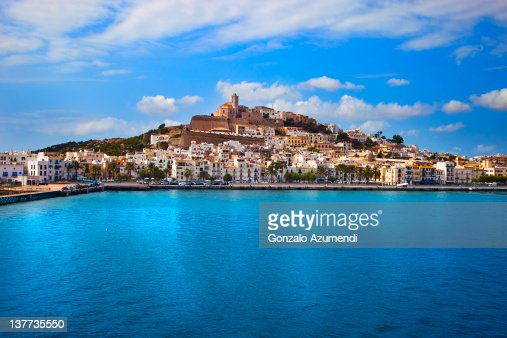Panoramic view of the city of Ibiza.