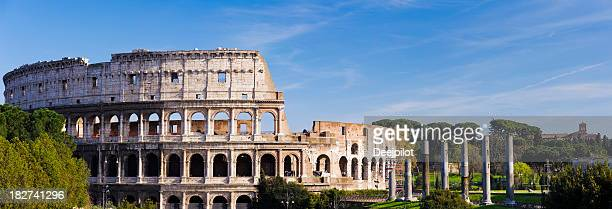 Panoramic View of the Colosseum in Rome Italy