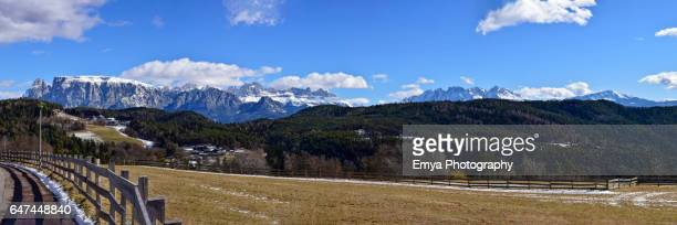 Panoramic view of the Dolomites