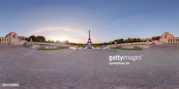 360° Panoramic View of the Eiffel Tower, Paris