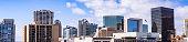 Panoramic view of the San Diego downtown skyline, California