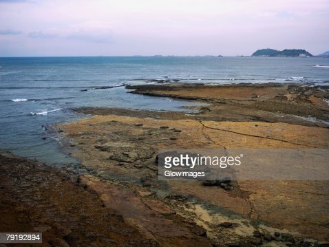 Panoramic view of the sea, Old Panama, Panama City, Panama : Stock Photo
