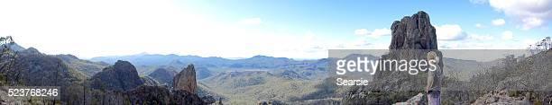 Panoramic view of the  Warrumbungles
