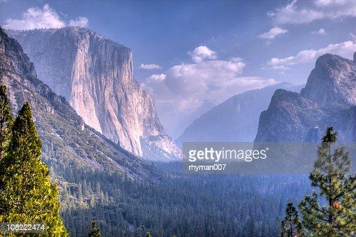 Panoramic view of the Yosemite Valley