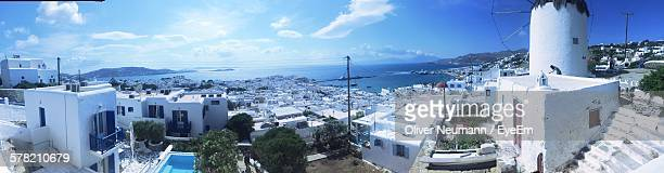 Panoramic View Of Townscape At Mykonos