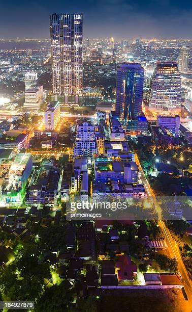 Panoramic view of urban landscape in Bangkok Thailand