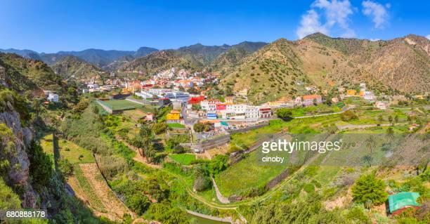 Panoramic view of Vallehermoso on Canary Islands La Gomera in the province of Santa Cruz de Tenerife - Spain