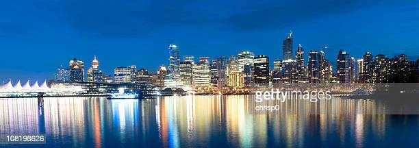 Panoramic View of Vancouver Skyline at Twilight (XXXL)