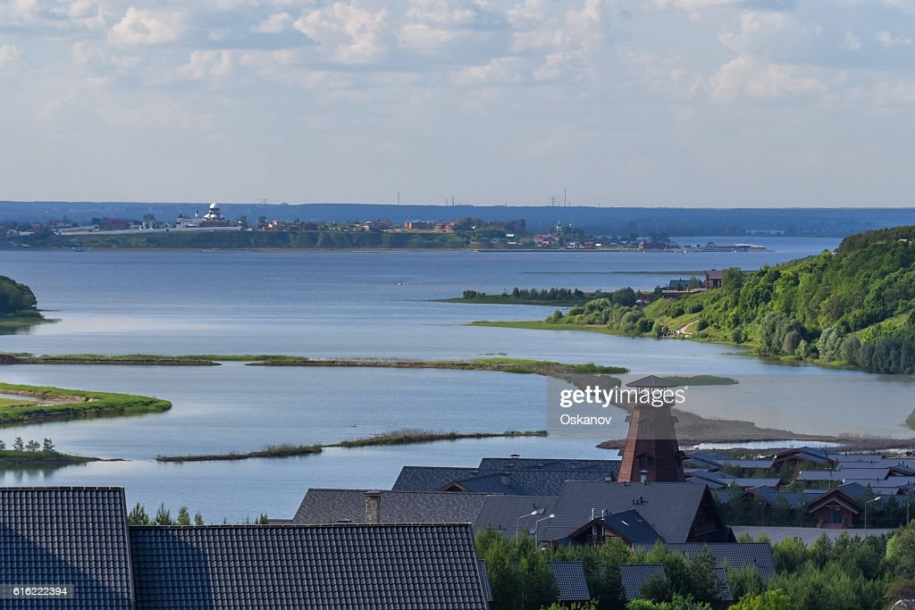 Panoramic view of Volga : Stockfoto